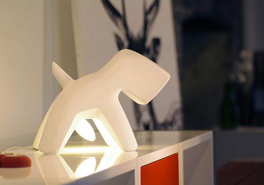 Una lampada da cani