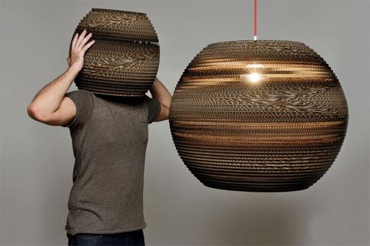 Lampade in cartone
