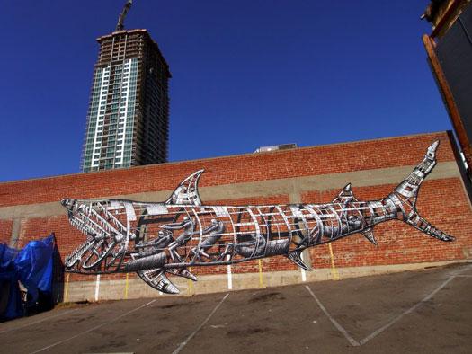 Street art con flemma