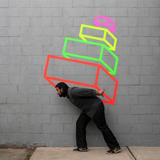 Street Art opere di Aakash Nihalani