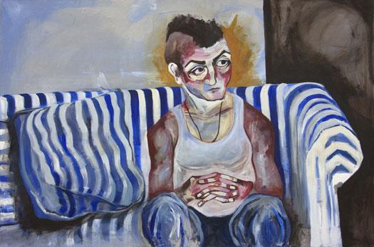 Anna Navasardian  - John, 2009  acrilico su tela