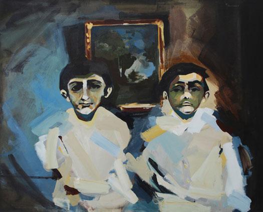 Anna Navasardian  - The Boys, 2010 acrilico su tela