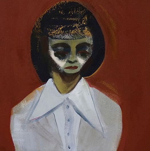 Anna Navasardian  - Teacher, 2011 acrilico su tela