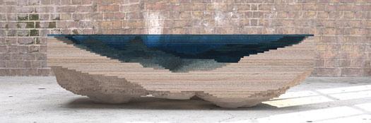 Tavolo Abyss design Duffy London