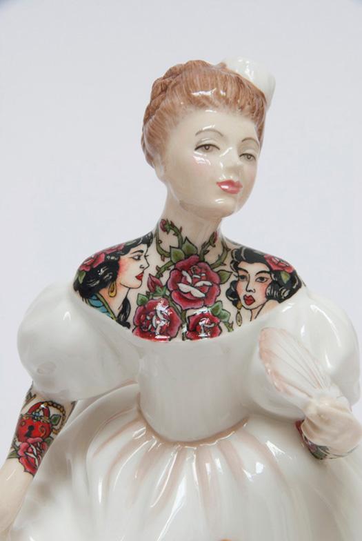 Sculture in porcellana, artista Jessica Harrison