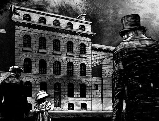 Illustarioni inedite di David Foldvari, La Londra Dark di Dickens