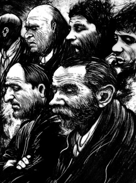 Dickens Dark London illustrazioni