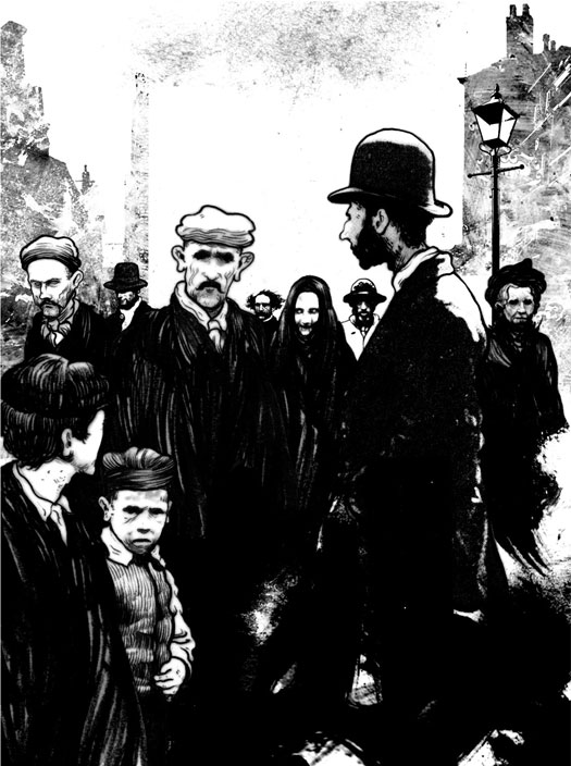 Illustarioni di David Foldvari per il Museum of  London