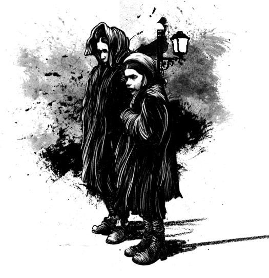La Londra Dark di Dickens illustrazioni David Foldvari
