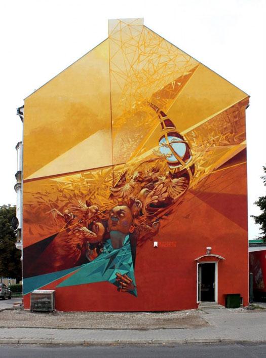 Etam Cru street art - G.Wlkp  + Pener Tone  Gorzów Wielkopolski, Poland, 2010