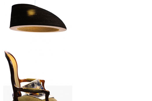 Lampade in cartone triplaonda design Altroprogetto