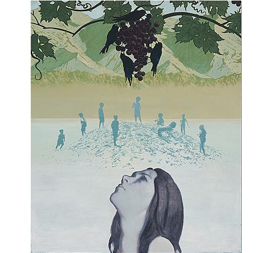 Christian Vincent olio su tela serie Mid Summer