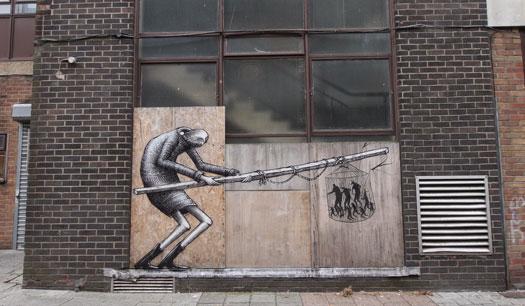 street art opere di Phlegm