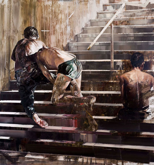 Pittura ad olio di Dan Voinea serie A momentary rise of reason