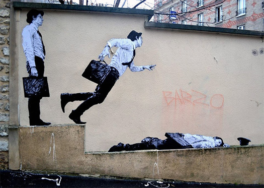 Street Art  opere di Lavalet