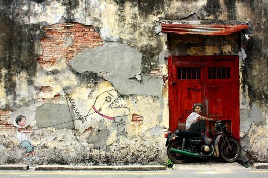 Street art opere di Ernest Zacharevic