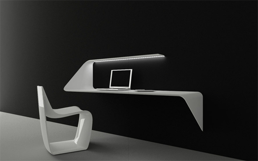 Mensola scrivania pensile mamba - Scrivania design ...